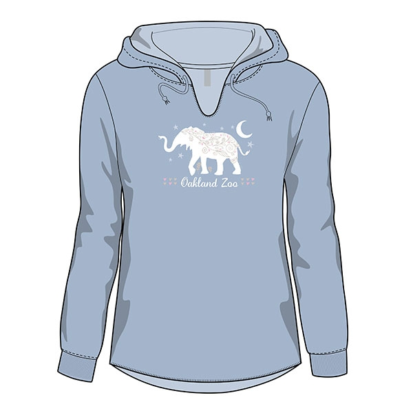 ADULT  LADIES HOOD  ELEPHANT