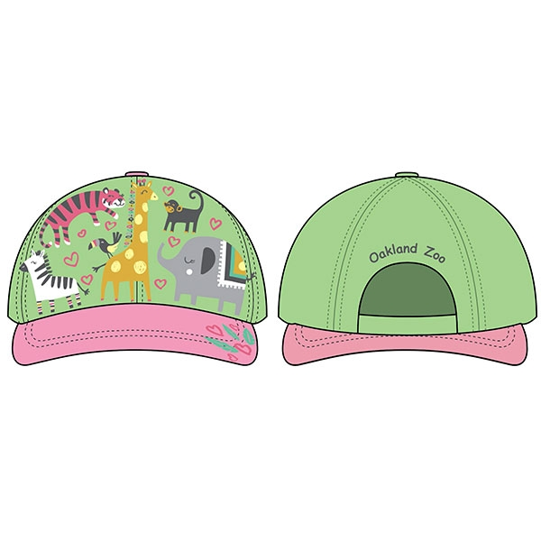 INFANT CAP ZOO HEARTS