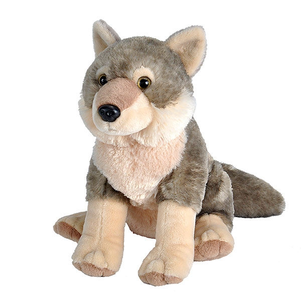WOLF STUFFED ANIMAL - 12""