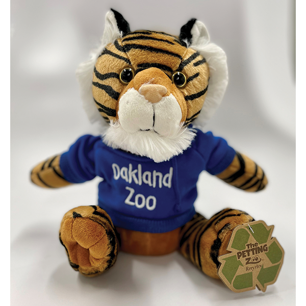 TIGER PLUSH WITH OAKLAND ZOO HOOD