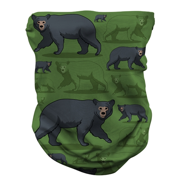 ADULT BLACK BEAR REPEAT GAITER