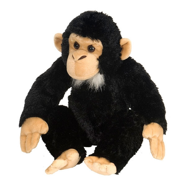 CHIMPANZEE STUFFED ANIMAL - 12""