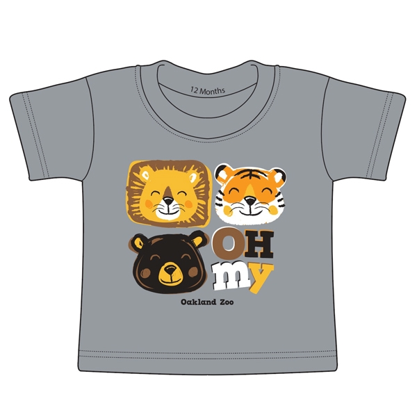 INFANT TEE LIONS TIGERS BEARS OH MY