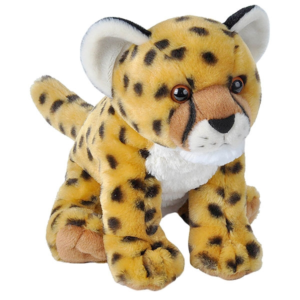 CHEETAH CUB STUFFED ANIMAL - 12""