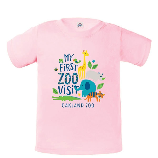 INFANT TEE STACK ZOO  FIRST VISIT - PINK