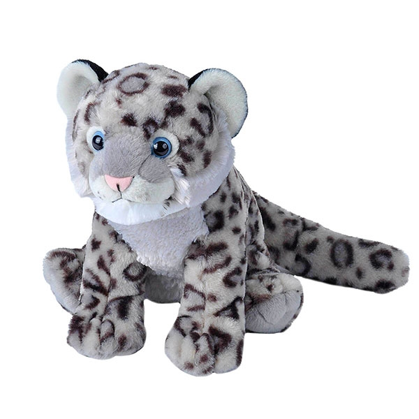 SNOW LEOPARD CUB STUFFED ANIMAL - 12""