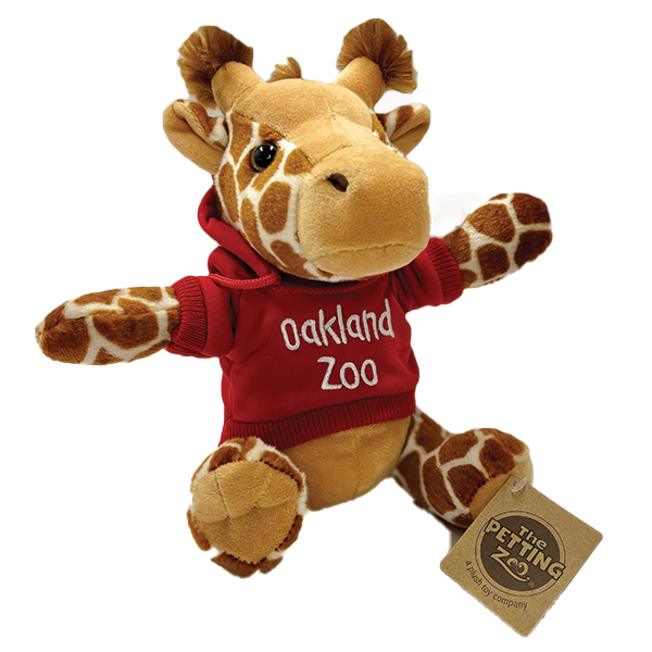 GIRAFFE PLUSH WITH OAKLAND ZOO HOOD