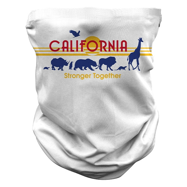 ADULT CALIFORNIA  LICENSE PLATE GAITER