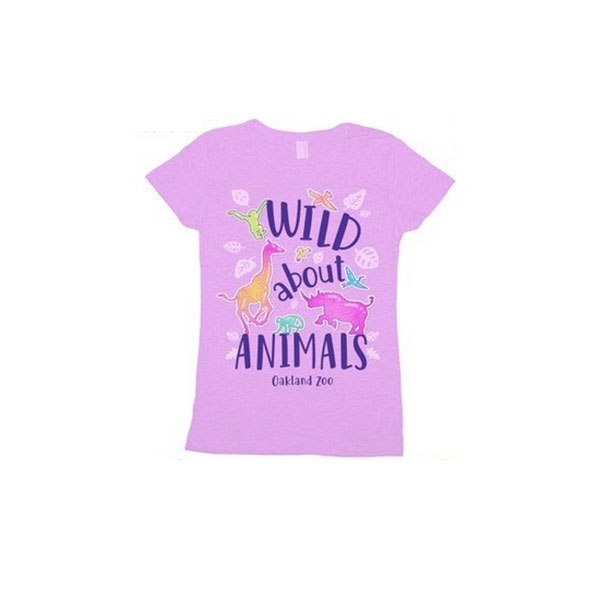 YOUTH TEE SHIRT WILD ABOUT ANIMALS