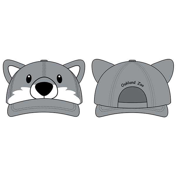 TODDLER 3D CAP WOLF