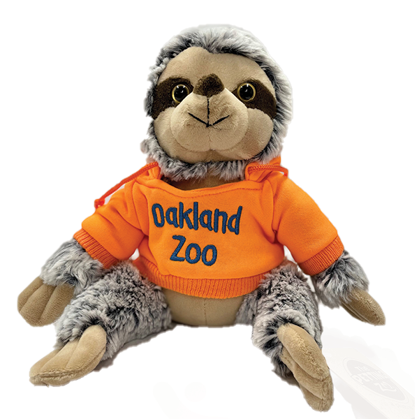 SLOTH PLUSH WITH OAKLAND ZOO HOOD