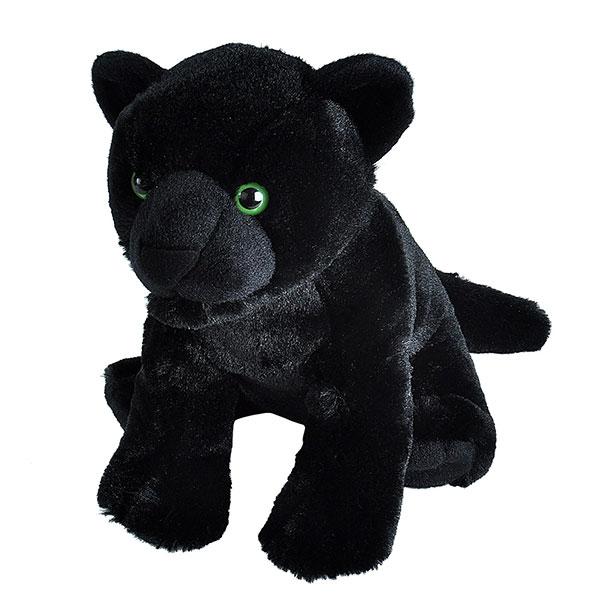 """BLACK JAGUAR STUFFED ANIMAL - 12"""""""