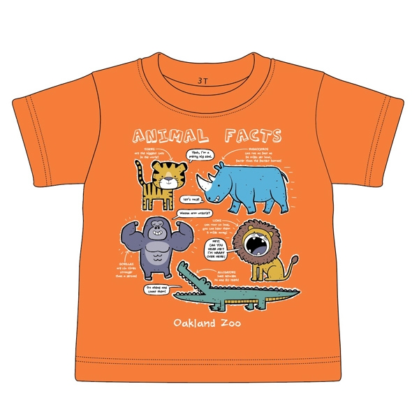 TODDLER TEE ZOO ANIMAL FACTS