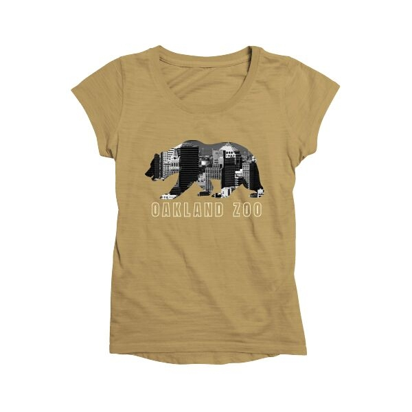 ADULT LADIES TEE OAKLAND BEAR