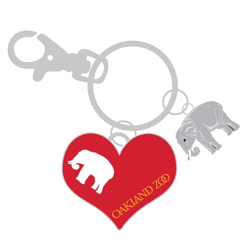 KEYCHAIN ELEPHANT WITH HEART