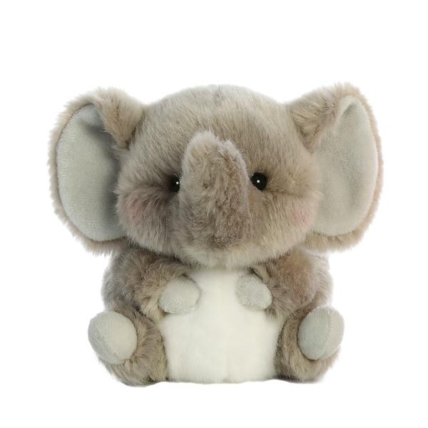 TRUMPETER ELEPHANT ROLLY PLUSH