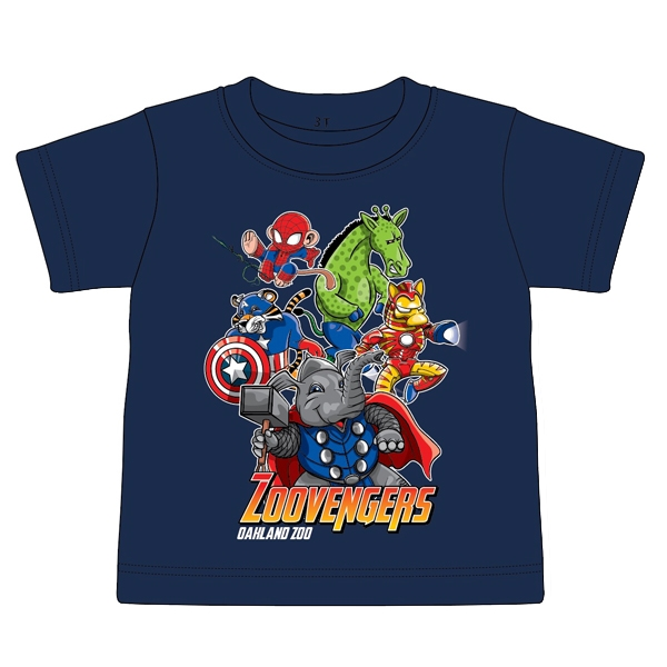 TODDLER TEE ZOOVENGERS